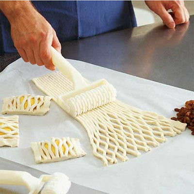 Kitchen Cooking Bakery Tool Pie 8Pizza Pastry Lattice Roller Cutter New