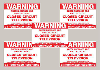5 Warning CCTV security stickers signs 50mm x 70mm Free 1st class delivery