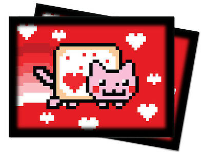 50ct Nyan Cat Meme Deck Protector Sleeves Pokemon Sports MTG 66 x 91mm Ultra Pro