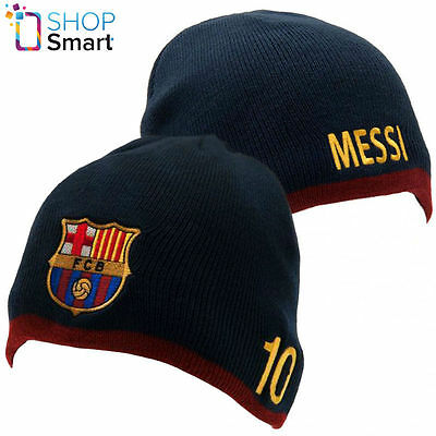 Fc Barcelona Messi Lionel Knitted Hat Cap Beanie Soccer Football Club Team New