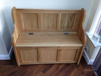 4 ft Solid Oak Monks Bench/Settle/Pew With Storage (MADE TO ANY SIZE)