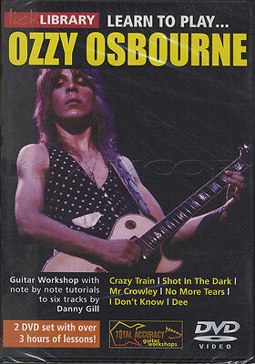 Learn to Play Ozzy Osbourne Randy Rhoads Guitar Lick Library DVD Set Crazy Train