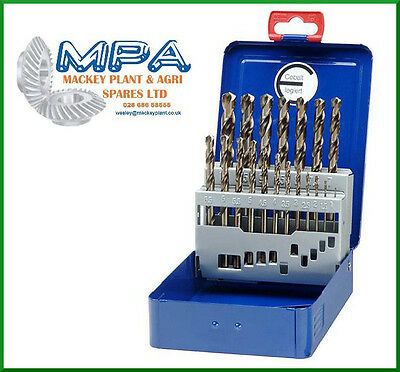 1mm - 10mm HSS-E COBALT TWIST DRILL BITS, SPLIT POINT - 19PC SET CO5