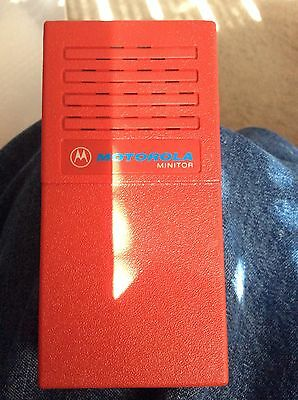 Vintage Red Motorola Minitor Fire Firefighter Pager 33.860
