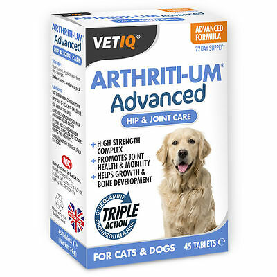 M & C Arthriti Um Advanced 45 Tablets Joint Care For Dogs Dog Triple Action