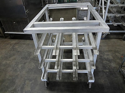 New Age Aluminum Can Rack, 3 shelves & 3 rows, Casters #811