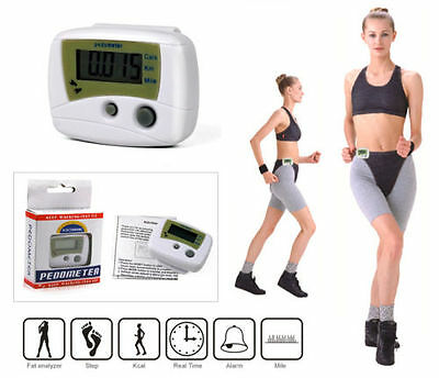 LCD Pedometer Jogging Walking Step Run Distance Calorie Counter Digital Sport *