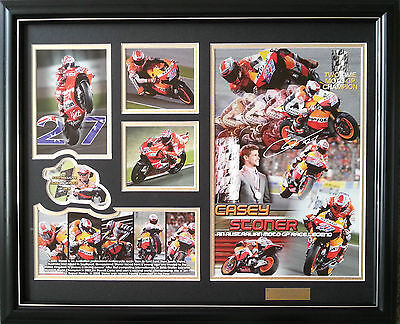 Casey Stoner Limited Edition Frame Photograph with Certificate