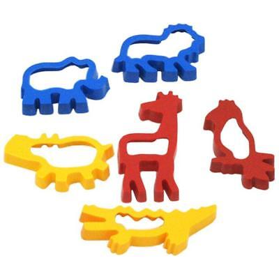 Dough Shape Cutters Jungle Theme X6 Biscuit Cutters Play Doh Cooking