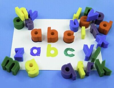 Sponge Painting Alphabet sponges 26 letters Arts and Crafts Sponge Shapes