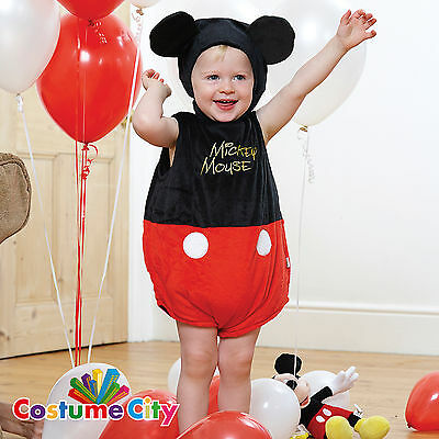 Babys Toddlers Official Disney Mickey Mouse Tabard Fancy Dress Party Costume