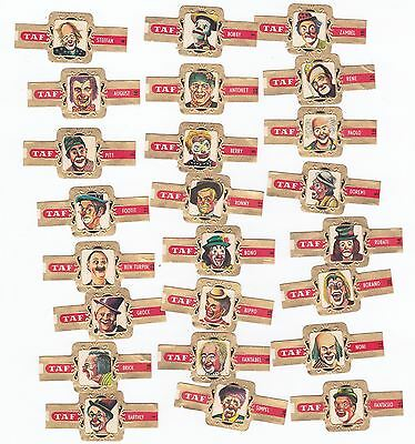 24 cigar bands Taf Famous Circus Clowns iss in 1968