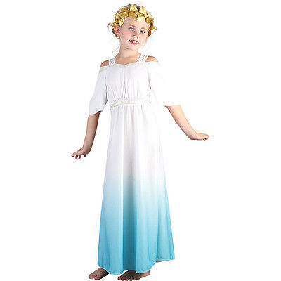 Ancient Roman Goddess Fairy Tales #Fancy Dress Child Polyester Outfit 3 Sizes