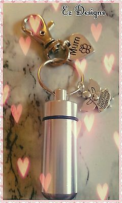 Cremation Jewellery/Ashes/keepsake Urn Keyring For MUM Memorial Mothers Day Gift