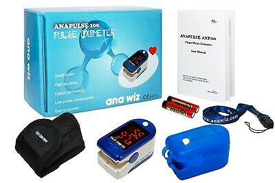 Finger Pulse Oximeter Heart Rate Blood Oxygen Saturation Spo2 Monitor With Case
