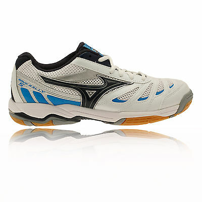 Mizuno Wave Rally 5 Womens White Blue Badminton Indoor Court Shoes Trainers