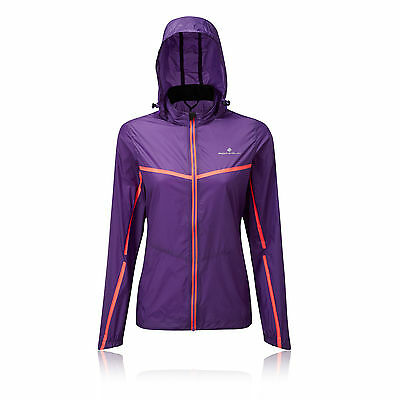 Ronhill Microlight Womens Purple Trail Running Hooded Sports Jacket Top