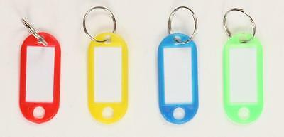 Key Ring Tags Plastic Assorted ID Coloured Key Keyring Fobs Pack of 1 25 50 100