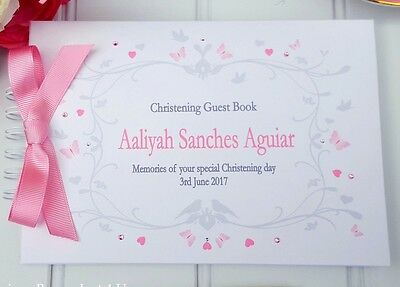 Personalised Christening/ Naming Day /guest Book/ Message Book /scrapbook Album