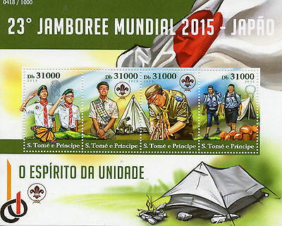 Sao Tome & Principe 2015 MNH Scouting 23rd World Jamboree Japan 4v M/S Scouts