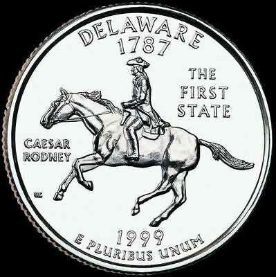 "1999 D Delaware State Quarter New U.S. Mint ""Brilliant Uncirculated"""
