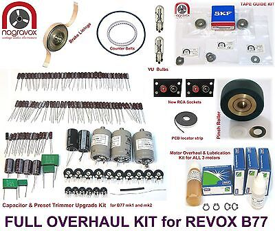 "Revox B77  ""Full Monty"" comprehensive mechanical & electronic overhaul kit"
