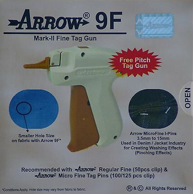 Arrow FINE Needle Tag Gun +1000 Black Barbs 15mm Clothing Label Tagging Attacher