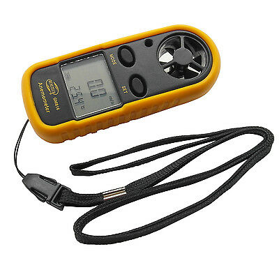 Handheld LCD Digital Wind Speed Gauge Meter Anemometer Thermometer Tester