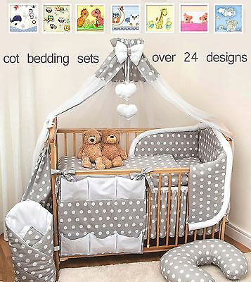 12Pcs Piece Baby Infant Bedding Set Cot CotBed Bumper, Many Patterns to Choose