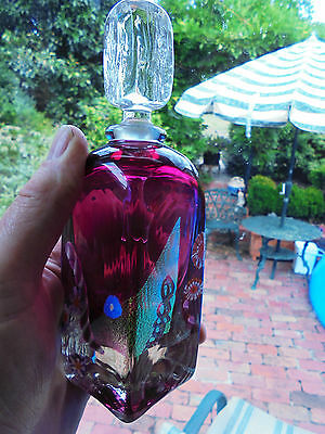 Australian Studio Ruby Art Glass Perfume Bottle By Chris Pantano