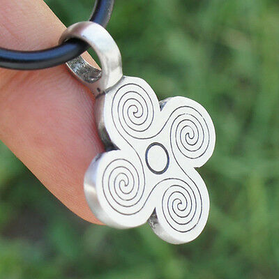Celtic Ancient Viking Spiral Labyrint Gotland Stone Vallstena Pewter Pendant