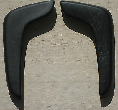 Mopar Chrysler 1965 66 67 68 Black  C Body Rear Arm Rest Pads Sport Fury