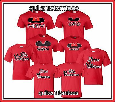 Mom And Dad T Shirts Couples Design Mickey Minnie Son Daughter Sister