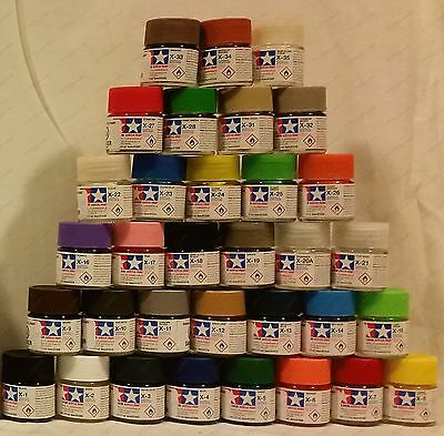 Full Set of 33 X Tamiya Paints Colours Colors