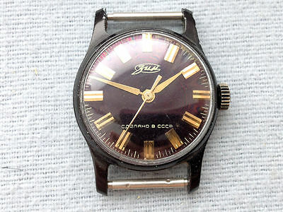 USSR MADE Wrist watch ZIM 1970xx serviced oiled runs well