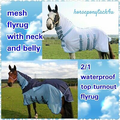 2 In 1 Waterproof Dual Combo Combined Turnout Top Line Fly Rug Or Fly Sheet