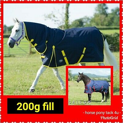 Medium Weight Waterproof Horse Turnout Rug 200G Fill Standred Or Combo Neck