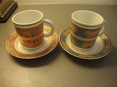 Kaiser Set Of Two  Demi Tasse Coffee Cups & Saucers New Condition