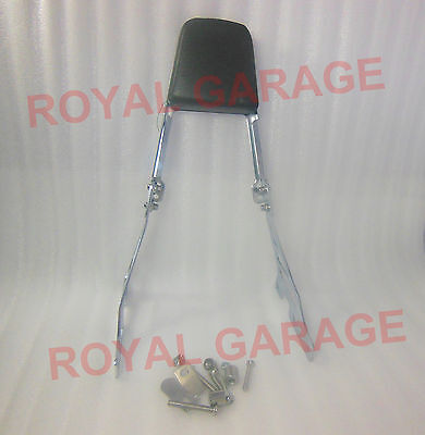 Royal Enfield Harley Street Iron Classic Triumph Rear Seat Backrest With Cushion