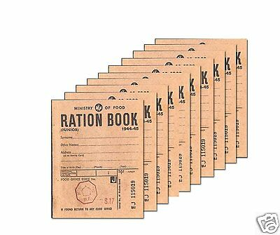 World War Two Ration Book (replica) x 10 Booklets