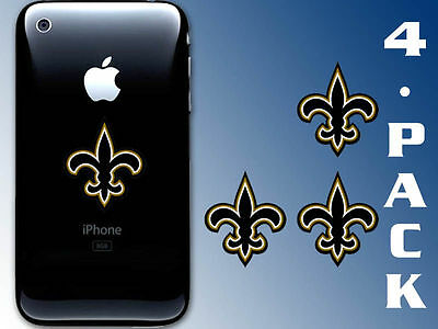 4-Pack 1.5 inch Fleur De Lis Cell Phone Stickers -New Orleans Saints decal small