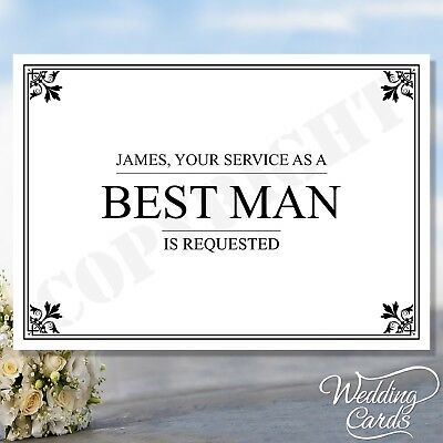 Will you be my Best man Usher Groomsman Maid of Bridesmaid Ring Bearer Page Boy