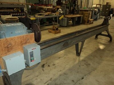 Yates American #9 10' capacity 5hp heavy duty wood lathe with VS control