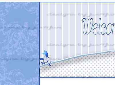 Blue Flower eBay Listing Template Auction Template