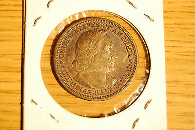 VINTAGE 1893 Worlds Columbian Exposition Half Dollar Silver Coin Collectible