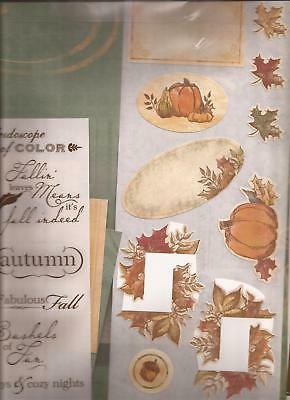 CREATIVE MEMORIES Jewel AUTUMN Additions Scrapbooking Kit Stickers Paper Mats