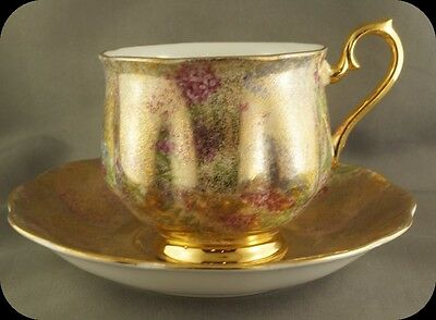 Royal Albert Heavy Gold Wash Chintz Cup & Saucer