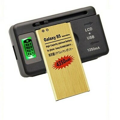 4350mAh High-Capacity Gold Battery For Samsung Galaxy S 5 i9600 G900A / Charger