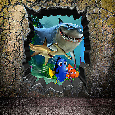 Cartoon Finding Nemo Sea Fish Home Decor Decal Kids Removable Wall wall stickers
