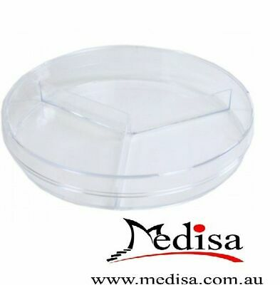 3 Sector Plastic Petri dishes with lid,  90*15mm, Pre-sterile, 20Pcs/Pack